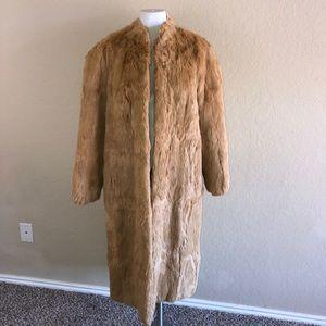 Vintage 70s Mademoiselle Long Rabbit Fur Coat